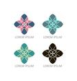 Mandalas or Geometrical logos vector image vector image