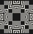 modern black and white geometric seamless pattern vector image vector image