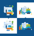 modern education training design online courses vector image vector image