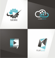 Movie logo designs vector image