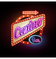 Neon sign Casino vector image