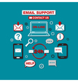 Online Technical Email Support Service vector image