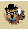 owl in a hat vector image vector image