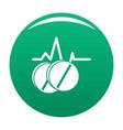 pill icon green vector image