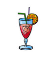 pop art style cocktail sticker vector image