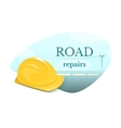 Road repair concept design vector image