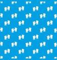 rubber gloves pattern seamless blue vector image vector image
