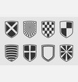 safe and guard protect symbol set heraldic shield vector image