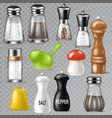 salt shaker design pepper bottle glass vector image vector image