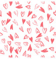 seamless pattern with hearts handmade art vector image