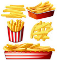 set of hot chips vector image