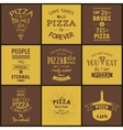 Set of vintage pizza typographic quotes vector image vector image