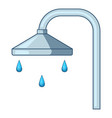 shower icon cartoon style vector image vector image