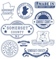 Somerset county New Jersey stamps and seals vector image vector image