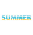 summer in the double exposure vector image vector image