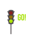 traffic light isolated icon green light vector image