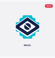 two color brazil icon from brazilia concept vector image