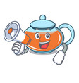 with megaphone transparent teapot character vector image
