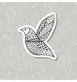 Zentangle stylized bird Hand drawn vector image