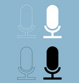 microphone the black and white color icon vector image