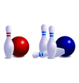 skittles for bowling vector image