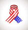 USA Flag Ribbon American Patriotic Sign vector image