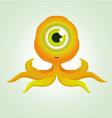 cute octopus monster vector image