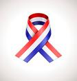 USA Tricolor Ribbon American Patriotic Sig vector image