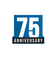 75th anniversary icon birthday logo vector image vector image