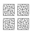 a set of square mazes for children simple flat vector image vector image
