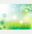 abstract natural green spring background vector image vector image