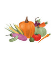 autumn harvest composition ripe delicious vector image