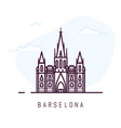 barcelona city cathedral vector image vector image