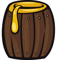 barrel of honey clip art cartoon vector image vector image
