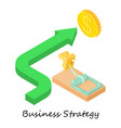business strategy icon isometric 3d style vector image vector image