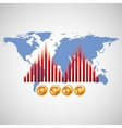 business world money economy vector image vector image