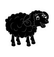 cartoon silhouette ram design isolated on white vector image vector image