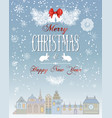 christmas town card vector image