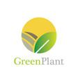 circle green plant logo vector image vector image