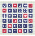 Collection of icons web design elements vector image