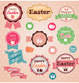 Collection of vintage retro Easter labels stickers vector image