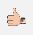 contactless payment flat icon vector image