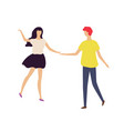 couple dancing together man and woman in club vector image