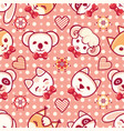 cute pets seamless pattern vector image