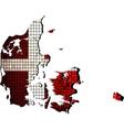 Denmark map with flag inside vector image