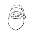 doodle santa claus with contour vector image vector image