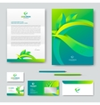 Eco corporate identity vector image vector image
