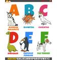 educational cartoon alphabet collection vector image vector image