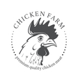 Emblem with Chicken head vector image vector image