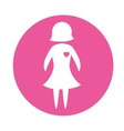 emblem woman prevention heart vector image